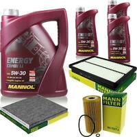 Inspektionspaket Filter Set 5W30 Motoröl für Hyundai Grand Santa Fé DM