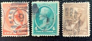 1881 US Stamps SC#210, 211, 205 Washington Used CV:$41