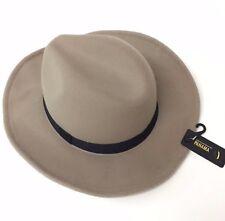 Mushroom Vintage Women Men Wide Brim Wool-look/effect Hat Fedora Cap Panama