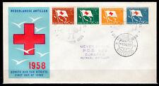 Dutch Antilles - 1958 Red Cross -  Mi. 88-91 addressed FDC (E8)