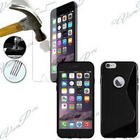 "Etui Coque TPU Silicone Gel Pour Apple iPhone 6S 4.7"" + 2 Films Verre Trempe"