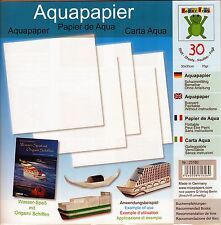 Aquapapier 30 Sheets 30cm Water Resistant Origami/Craft Paper