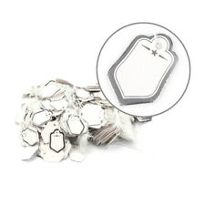 1000 Pcs Sliver Strung Price Tag Tags Swing Tickets Tie On Labels With String
