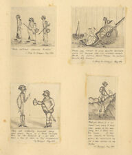 More details for late 19th century album - english and french comical drawings