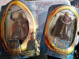 Lord of The Rings Toybiz Aragorn and Eomer Figures in Original Packaging