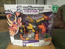 NEW Transformers cybertron Action Figure Voyager Scourge + Cyber Plant Key Rare!