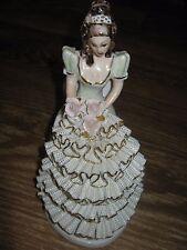 Vintage ? Romania Porcelain Figurine Lady Onelia  Apulum Lucru Manual