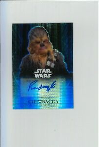 PETER MAYHEW Autograph #/50 Topps REFRACTOR Star Wars Auto 1ST & BEST CHEWBACCA