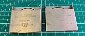 Roy Welton Dial Stirrup Adjuster Set Colorado Saddlery Co Denver (A11#4)