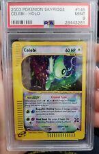 Celebi Holo Secret Rare Crystal Pokemon Card 145/144 Skyridge Set PSA 9 MINT