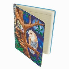 Craft Buddy Crystal Art fai da te NOTEBOOK-OWL & Fata Albero dall'artista Lisa Parker
