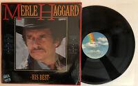 Merle Haggard - His Best - 1985 US Album (NM) In Shrink Ultrasonic Clean