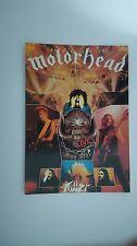 Motorhead Iron Fist live vintage music postcard POST CARD