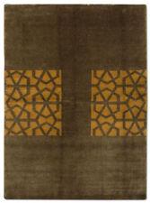 Tapis marron avec des motifs Abstrait indiens pour la maison