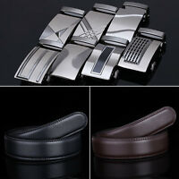 Men's Belts Automatic Buckle Belt Black Fashion Genuine Leather Belts Waistband