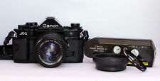 [Exc++] Canon A-1 35mm SLR Film Camera w/ Mint 50mm f/1.4 Lens & Power Winder A2