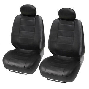 2pcs Front Car Seat Covers Waterproof PU leather Fit For 4 Season Cushion Pads