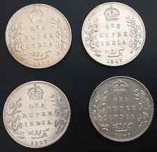 BRITISH INDIA 1907 B ONE RUPEE 0.917 SILVER Edward VII