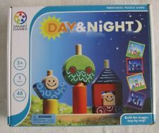 Smart Games Day & Night Wooden Skill Preschool Puzzle Game Ages 3+ Homeschool