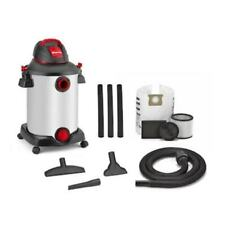 12-Gallon 6-HP Portable Wet/Dry stainless steel Shop Vacuum