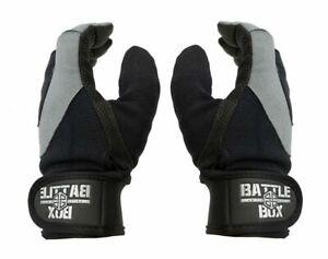 BattleBox UK™ Full Finger Leather Palm Gloves WOD Edition Fitness Cross Gym