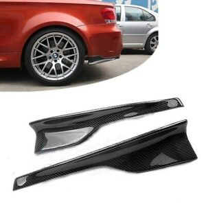 BMW 1 Series (E82 1M Bumper Only) Carbon Fibre Rear Bumper Corner Splitters
