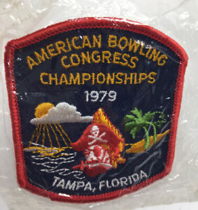 Vintage Bowling Patch ABC WIBC Tampa Florida Championships 1979 Pirate