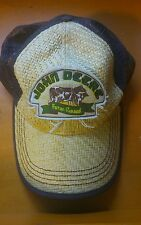 John Deere Farm Tractors Mesh Snapback Trucker Hat Cap beach Tan Adjustable x