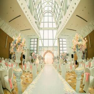 49X3ft White Carpet Floor Wedding Aisle Floor Runner Party Birthday Decoration