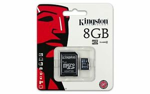 Classe 4 Kingston 8GB Micro SD Flash Carte Mémoire Pour Nikon Canon sony