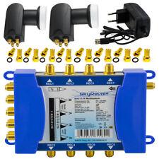 multi-interruptor 9/8 2x Quattro LNB 0,1 dB 2 satélites = 8 participantes