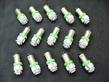 15 BRIGHT Green 5 LED Instrument Panel Dashboard Lights Bulbs BA9S 57 1895 Chevy