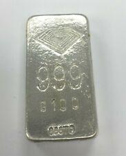 Lingotto Argento 999 puro 100 gr nuovo