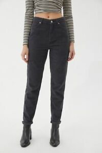 Urban Outfitters BDG Acid Corduroy High-Waisted Mom Jeans Black W30 L28 BNWT