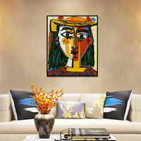 Pablo Picasso Head of a woman with a hat  Wall Art Canvas Print Poster Paintings