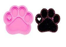 PAW PRINT PENDANT SILICONE MOULD-EPOXY RESIN SHINY LARGE MOLD/DOG/CAT/HANGING