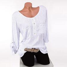 Lockre Sitzende Damenblusen,-Tops & -Shirts im Blusen-Stil mit Gepunktet für Freizeit