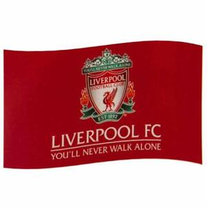 Liverpool FC Official Crest YNWA Flag Large (5ft x 3ft) Present Gift