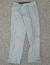 Oakley Mens Gray Micro Check Athletic Golf Pants Flat Front Pockets Size 30x32