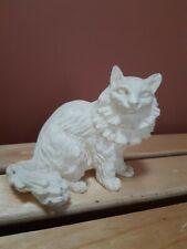 Vintage White Fur Persian Cat