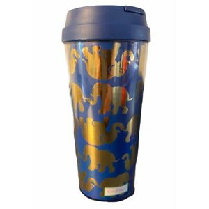 Lilly Pulitzer Thermal Mug Cup Lid Reusable Tusk in Sun Elephant Blue 16 oz