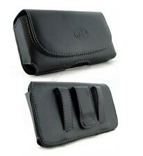 Leather Belt Clip Pouch for Apple iPhone 5 With Hard Cover / Silicone Case on it