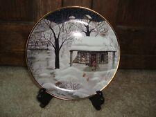 Franklin Mint Heirloom Moonlight Visitors Fine Porcelain Plate Carol J Andres