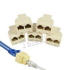 5x RJ45 Y Adapter Kupplung Splitter Verteiler Coupler Netzwerk Ethernet LAN ISDN