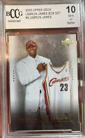Iconic 2003 Upper Deck LeBron James Rookie Card #9 Box Set BCCG 10 Mint MVP