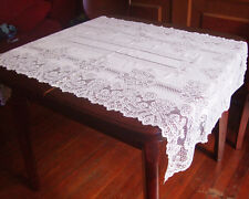 Floral Lace Tablecloth square 80*140cm white color 100% polyester