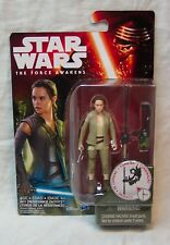 "Star Wars The Force Awakens Rey In Resistance Outfit 3"" Action Figure Toy New"