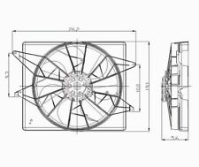 Dual Radiator and Condenser Fan Assembly TYC 620950