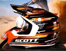 SCOTT 250 RACE MX Helm KTM SX-F Thor NEU Enduro MTB S Schwarz Orange KX-F Airoh