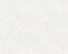 BIANCO Gonfiabile Vinile Carta da parati CON TEXTURE IN RILIEVO CON MOTIVI paintable 5807 Design